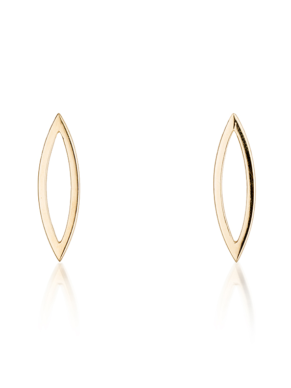 Fiona Kerr Jewellery | 9ct yellow gold polished stud earrings