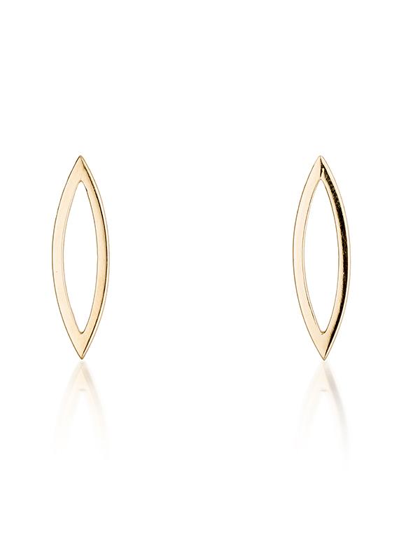 Fiona Kerr Jewellery | 9ct yellow gold polished stud earrings