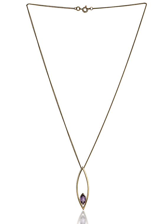 Fiona Kerr Jewellery | 9ct yellow gold large pendant with amethyst