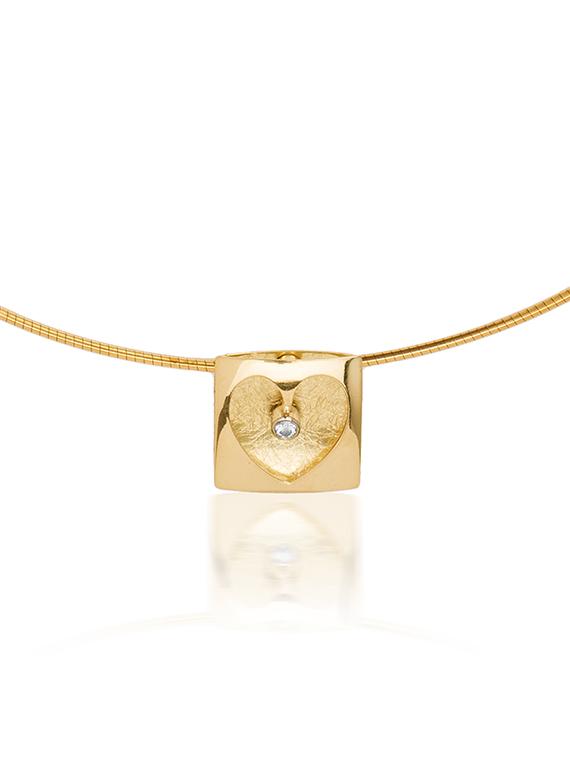 Fiona Kerr Jewellery | Heartbeat Gold Pendant