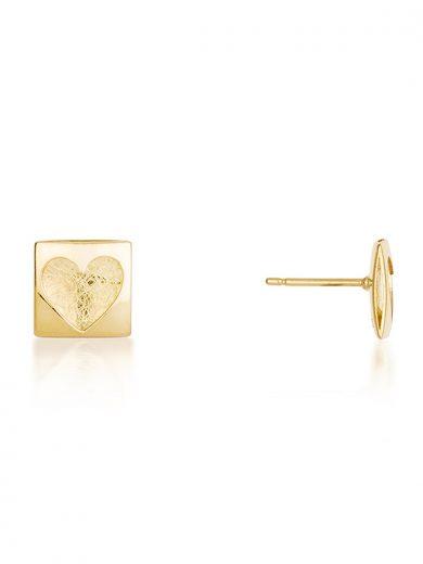 Fiona Kerr Jewellery | Heartbeat Gold Stud Earrings