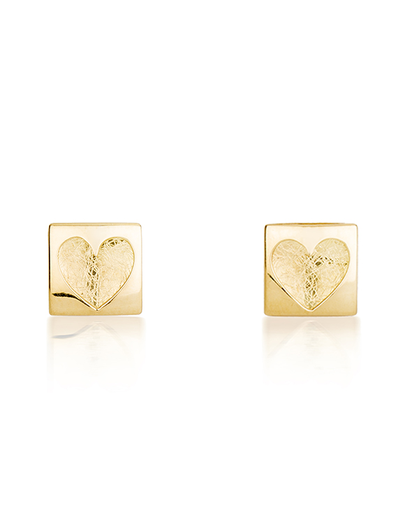 Fiona Kerr Jewellery | Heartbeat Gold Stud Earrings
