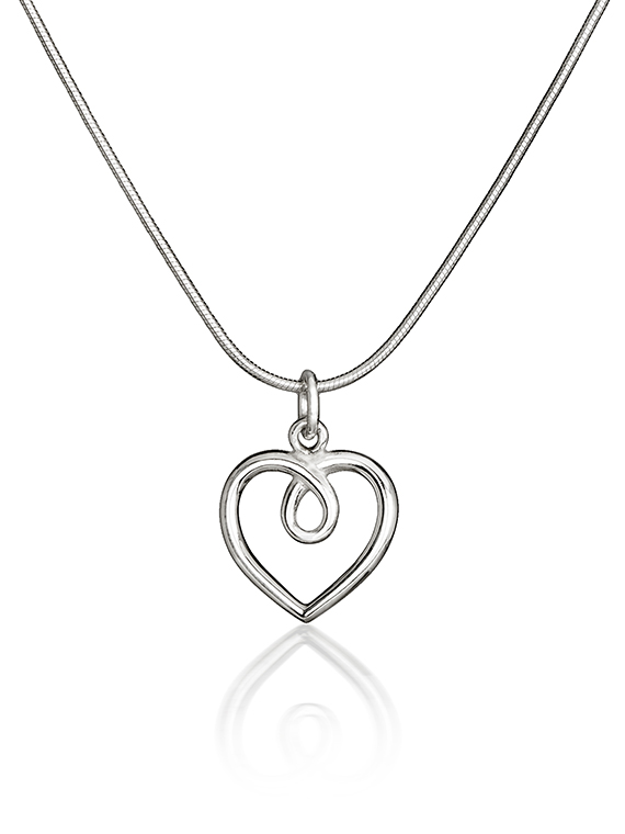 Fiona Kerr Jewellery | Medium Silver Heart Pendant