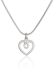 Fiona Kerr Jewellery | Medium frosted silver heart pendant