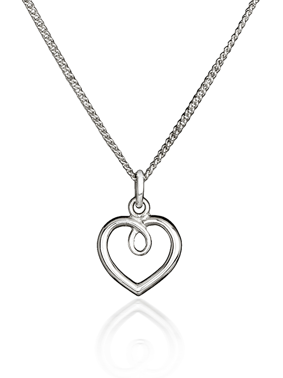 Fiona Kerr Jewellery | Small polished silver heart pendant