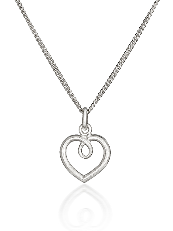 Fiona Kerr Jewellery | Small frosted silver heart pendant