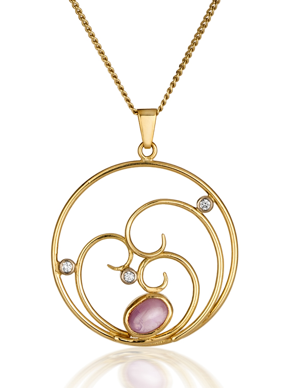 Fiona Kerr Jewellery | Pink Sapphire Pendant
