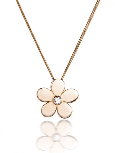 Fiona Kerr Jewellery | Rose Gold Daisy Pendant with Diamond