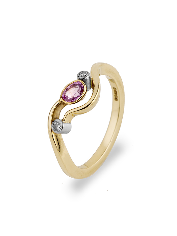 Fiona Kerr Jewellery | Pink Sapphire Gold RIng