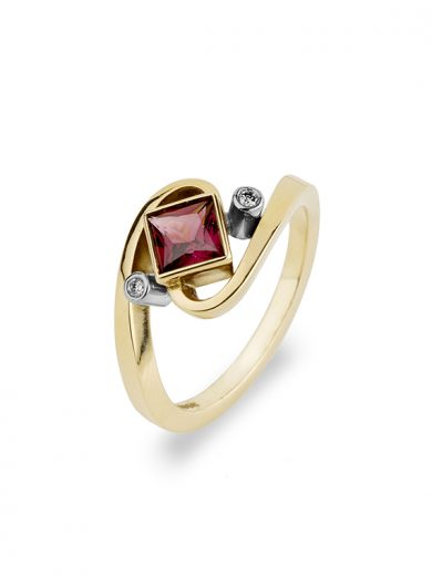Rhodalite Garnet Gold Ring
