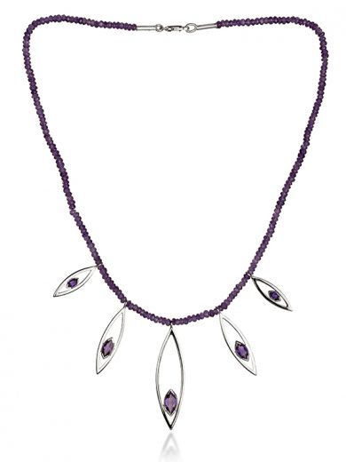 Fiona Kerr Jewellery | Silver Swing Time Necklace with Amethyst