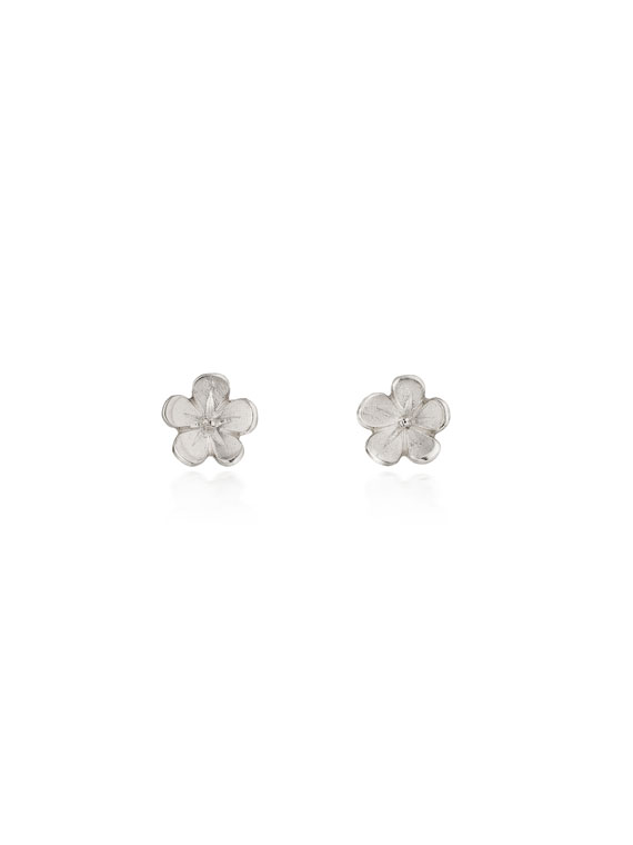 Cherry Blossom / Small Silver Stud Earrings - CB01