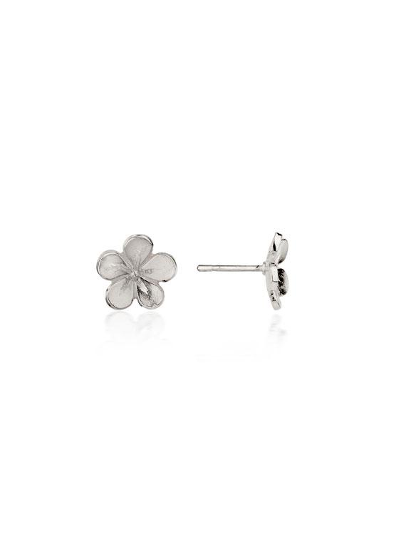 Cherry Blossom / Medium Silver Stud Earrings - CB02