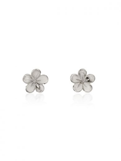Cherry Blossom / Medium Silver Stud Earrings - CB02
