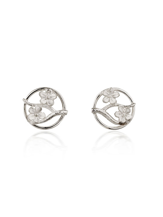 Fiona Kerr Jewellery / Cherry Blossom / Large Silver Stud Earrings – CB03