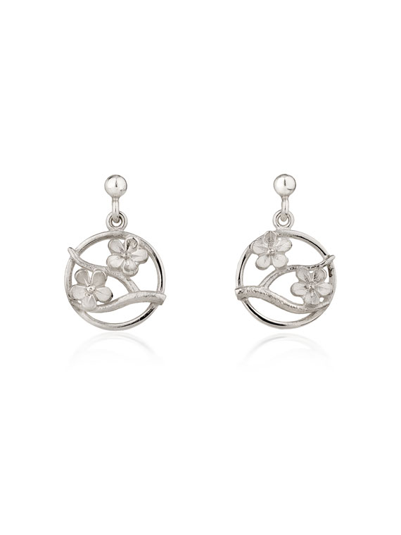 Fiona Kerr Jewellery / Cherry Blossom / Silver Drop Earrings – CB04