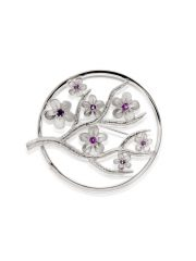 Fiona Kerr Jewellery / Cherry Blossom / Large Silver Brooch with Garnets – CB07G