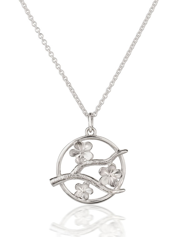 Fiona Kerr Jewellery / Cherry Blossom / Medium Silver Pendant – CB05