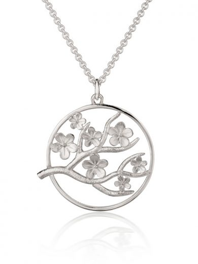 Cherry Blossom Large Silver Pendant - CB06