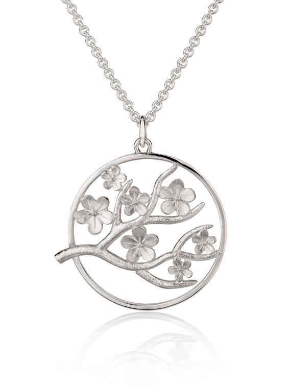 Fiona Kerr Jewellery / Cherry Blossom / Large Silver Pendant – CB06