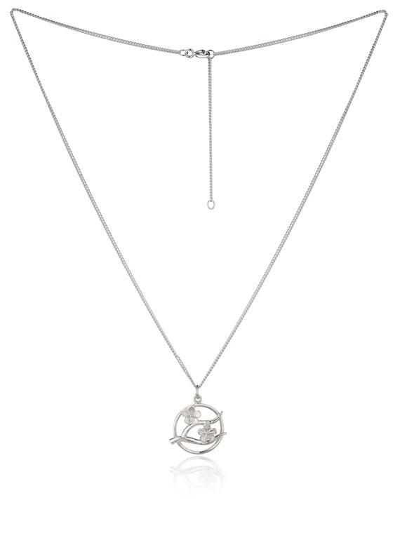 Cherry Blossom Small Silver Pendant - CB08