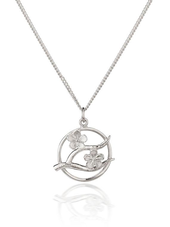 Fiona Kerr Jewellery / Cherry Blossom / Small Silver Pendant  – CB08