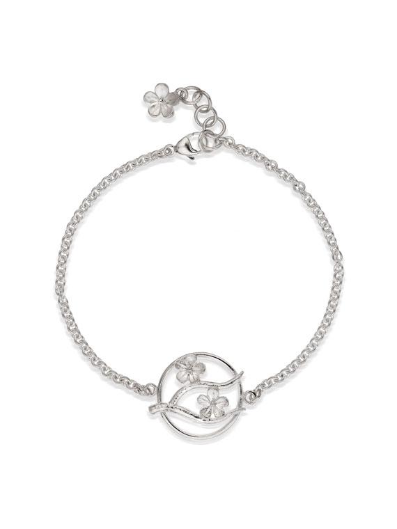 Cherry Blossom Silver Bracelet - CB09