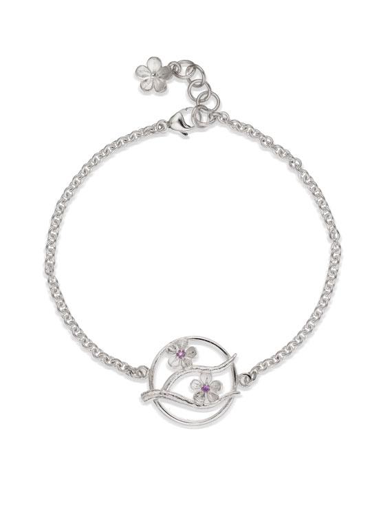 Fiona Kerr Jewellery / Cherry Blossom / Silver Bracelet with Garnets – CB09G