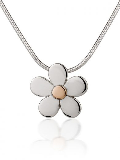 Fiona Kerr Jewellery | Daisy Chain Silver and Rose Gold Pendant - DC11