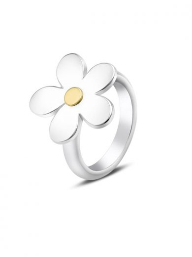 Fiona Kerr Jewellery | Daisy Chain Silver and Yellow Gold Ring - DC27