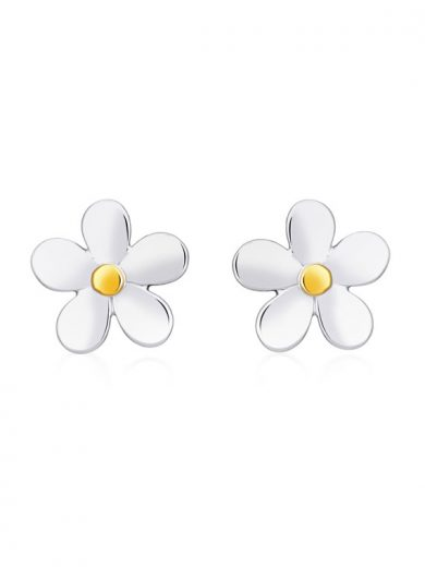 Fiona Kerr Jewellery | Daisy Chain Silver and Yellow Gold Stud Earrings -DC03