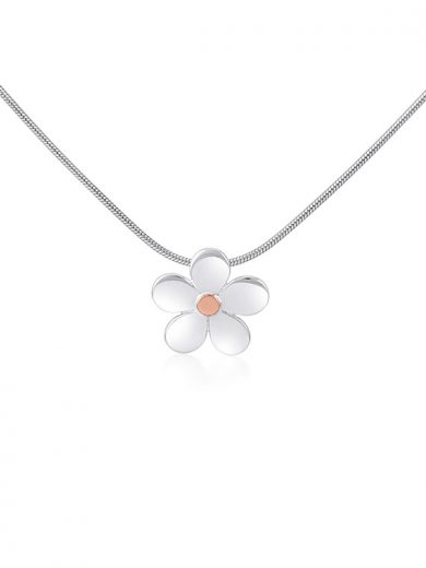 Fiona Kerr Jewellery | Daisy Chain Small Silver and Rose Gold Pendant - DC14