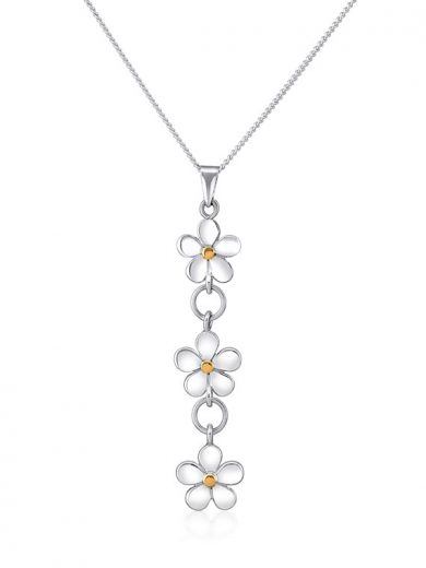 Fiona Kerr Jewellery | Silver and Yellow Gold Daisy Chain Pendant - DC39