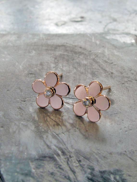 Fiona Kerr Jewellery | Rose Gold Daisy Stud Earrings – RGSE