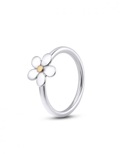 Fiona Kerr Jewellery | Daisy Chain Small Silver and Gold Ring - DC27s