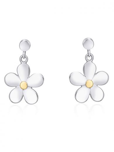 Fiona Kerr Jewellery | Daisy Chain Silver and Gold Drop Earrings - DC06